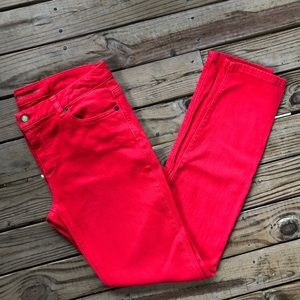 Michael Kors Red Skinny Jeans size 8